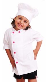 Dolma Infantil Chef De Cozinha Menina Bordado Nome Profissão