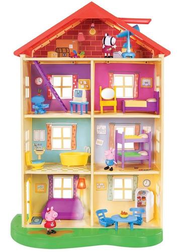 Imagen 1 de 6 de Peppa Pig Casa De Familia Playset Con Luces Y Sonido
