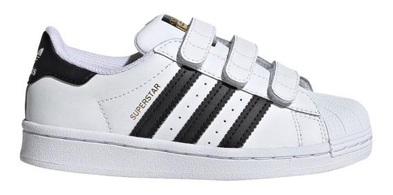Zapatillas adidas Superstar Cf C Bla/neg De Niños