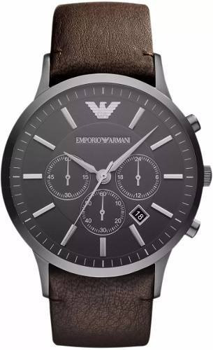Relógio Fz1938 Emporio Armani Ar2462 Couro Marrom / Caixa