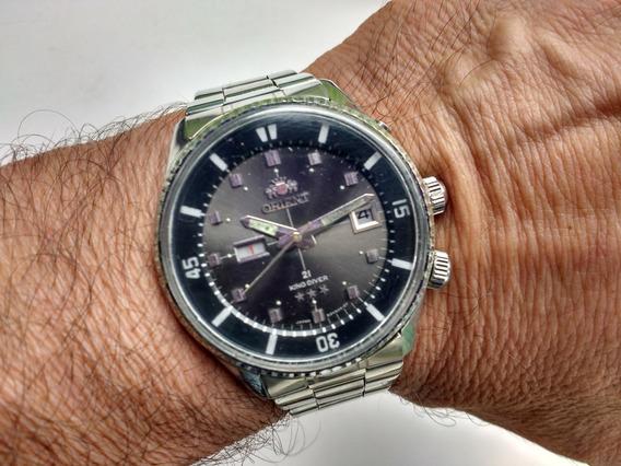 Relógio Orient Kd 2 Janelas Antigo Coleção King Diver 1942