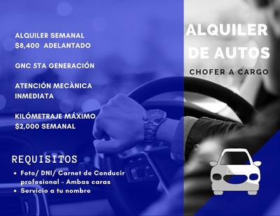 Alquiler De Autos Cabify Y Uber $9.000 A Cargo