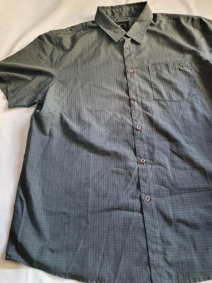 Camisa Oakley Xxl Gris Manga Corta
