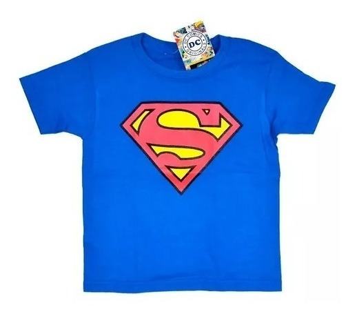 Playera Niño Superman Logo Original Dc Comics