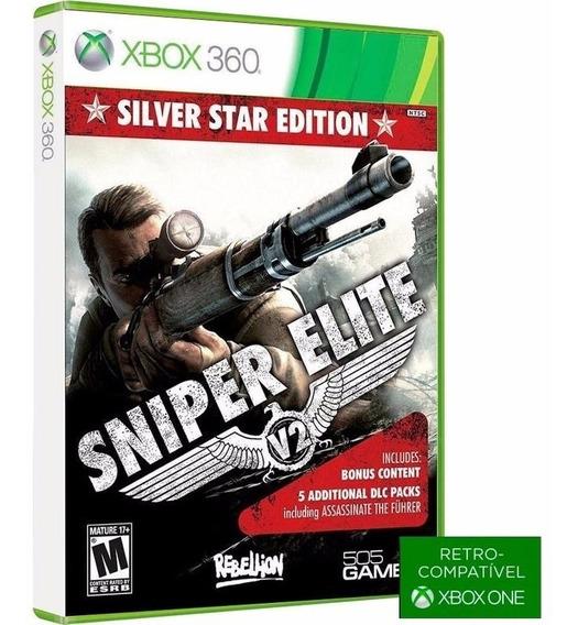 Sniper Elite V2 Silver Star Com 5 Dlc - Midia Fisica Original E Lacrado - ( Retrocompativel Com Xbox One ) - Xbox 360
