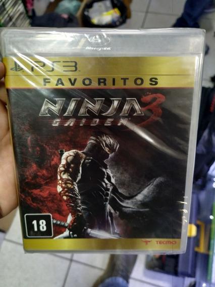 Ninja Gaiden 3 Ps3 Favoritos Novo Lacrad Mídia Física