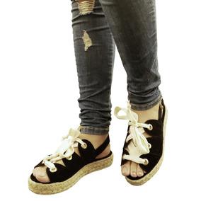 Flat Flatform Rasteira Jeans Claro Ou Preta Salto Baixo