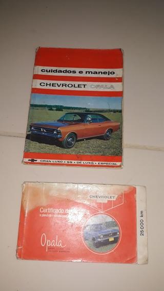 Manual E Livreto De Garantia Opala 1971