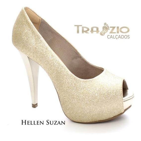 Peep Toe Meia Pata Gliter Glamour Hellen Suzan