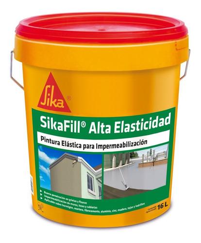 Imagen 1 de 7 de Sikafill Alta Elasticidad Gris, Pintura Impermeable 16 Lts