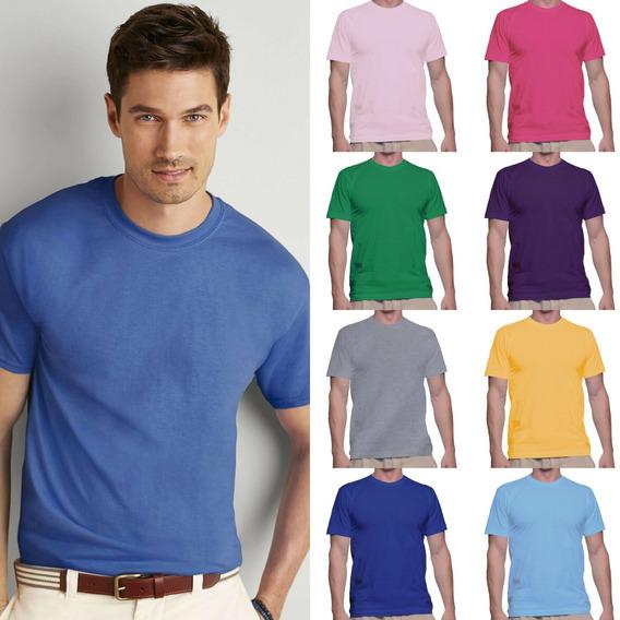 Camisetas Básica Lisa Várias Cores Camisa T-shirt Masculina