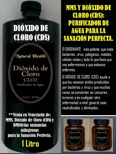 Dioxido De Cloro (cds) Y Mms Purificador De Agua