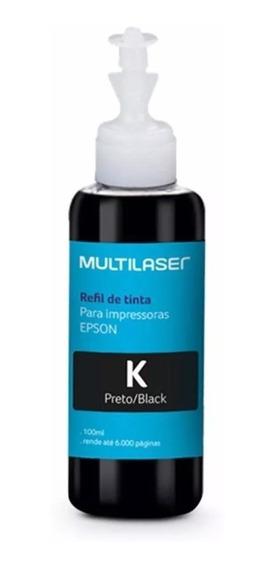 Refil De Tinta Preto Multilaser Rf005 Impressora Epson