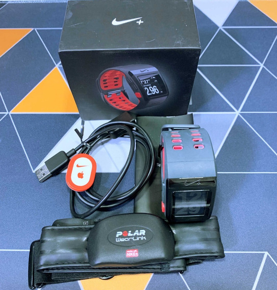 Nike+ Sportwatch Cinza/vermelho | Tomtom | Nike Shoe | Usado