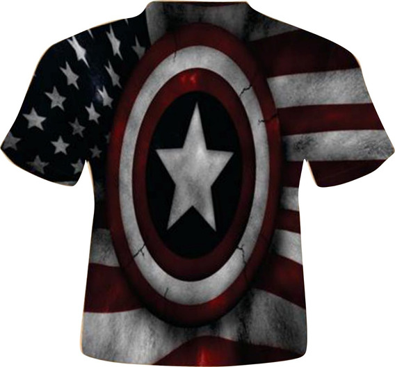 Blusa Masculina Adulto - Capitão América Tema 3