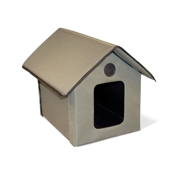 K&h Outdoor Kitty House, Unheated, Beige