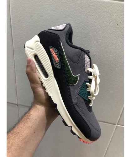 Tênis Nike Air Max 90 Prm Se Oil Grey Rainforest - 42br