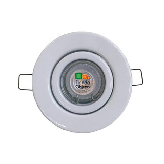 Lampara Spot Embutido Redondo Blanco Dim Philips 4,9w Gu10