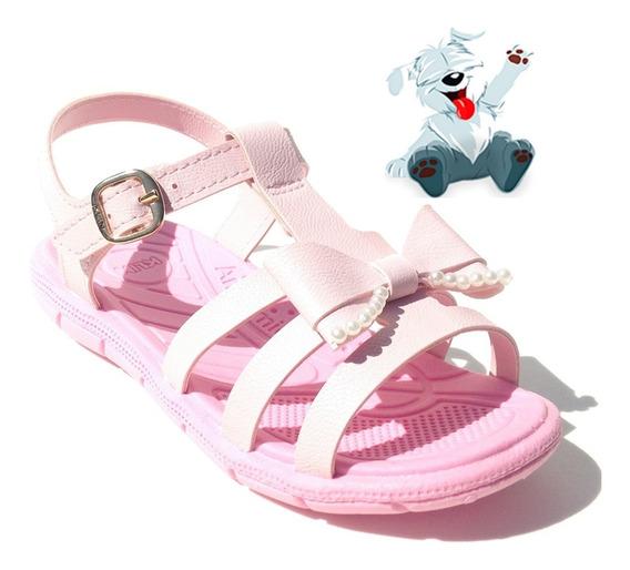 Sandalias Femininas Infantil Papete Rosa Pink Pronta Entrega