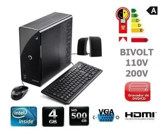 Pc Positivo Slim - 500 Gb- 4 Gb