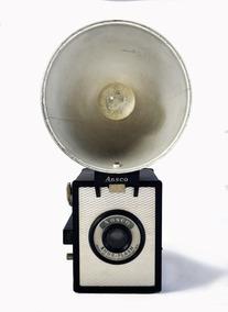 Antiga Camera Ansco Shur Flash - Coleção / Decoração / Lomo