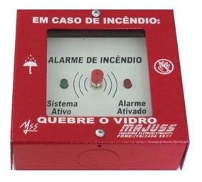 Botoeira Acionador Para Alarme De Incêndio Leds E Martelinho