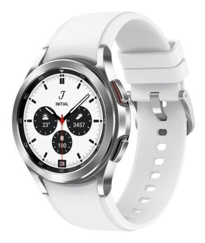Imagen 1 de 5 de Samsung Galaxy Watch4 Classic (bluetooth) 1.2  Caja 42mm De  Acero Inoxidable  Silver Malla  Silver De  Fluoroelastómero Y Bisel  Black De  Acero Inoxidable Sm-r880