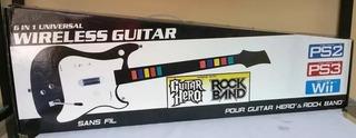 Guitarra Inalambrica Guitar Hero Rock Band Ps3, Ps2, Wii Pc