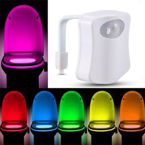 Sensor Luz Led 8 Cores - Iluminação Vaso Sanitário Privada
