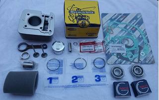Kit Motor Ybr 125 Factor Pistão Biela Rolamento+peças