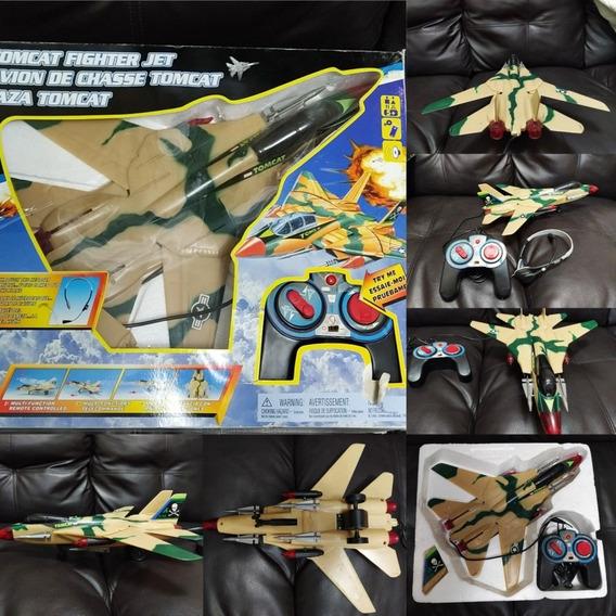 Avión F14 Con Control Alámbrico F 14 Múltiples Funciones
