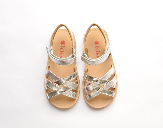 Sandalias Para Nenas Color Plata Hermosas!