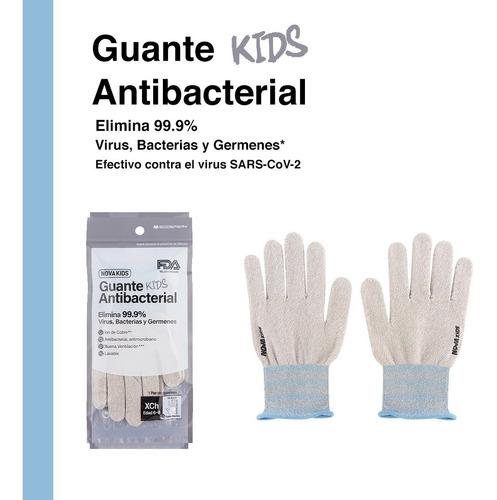 Imagen 1 de 6 de Guantes Con Cobre Antibacterial Para Niños Comodo Reusable