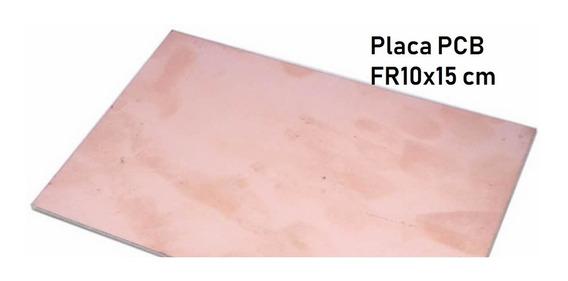 Placa Pcb 10x15 Fibra De Fr Dupla Face(unidade)+ Resistente