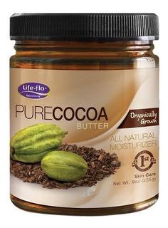 Lifeflo Puro Manteca De Cacao Orgã¡nico 9 Onzas