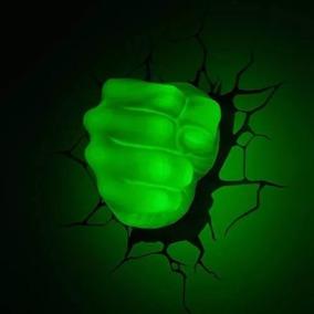 Luminária Mão Hulk 3d Light Fx Pronta Entrega