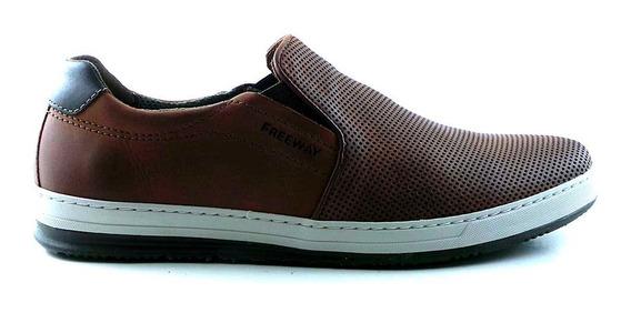 Alpargata Cuero Hombre Freeway Zapato Confort - Hcal00726
