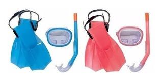 Kit De Buceo Snorkel 3-16 Años Kids 25008 Bestway.