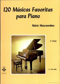 Livro 120 Musicas Piano Partituras V 2 Novo