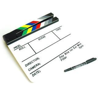 Claqueta Director Pizarra Acrilico Cine Película Escena Ohmyshop
