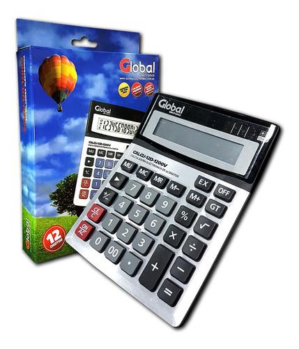 Calculadora Metalizada Global 12 Digitos, Mod. 1200v