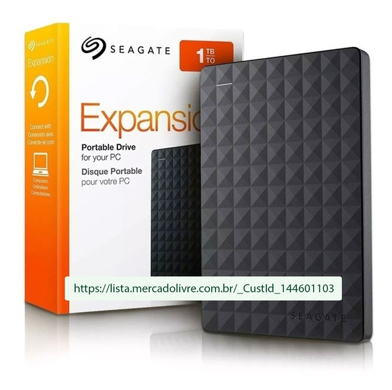 Hd Externo Portátil Seagate Expansion 1tb Usb 3.0 Preto