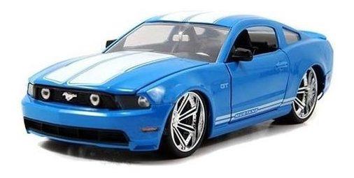 Miniatura Ford Mustang Gt 2010 Azul 1:24 Jada Toys