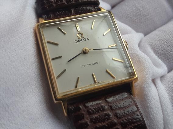 Relógio Omega À Corda Manual Plaquê De Ouro Antigo Vintage