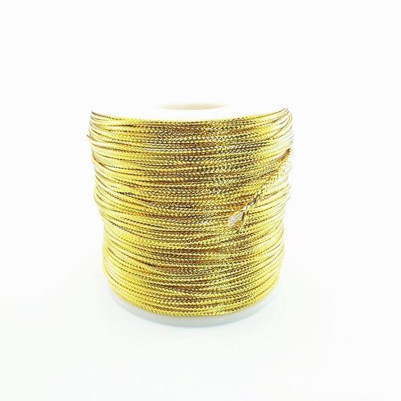 Cordão Fio Metalizado Ouro 1,5 Mm Promoção 100 Metros