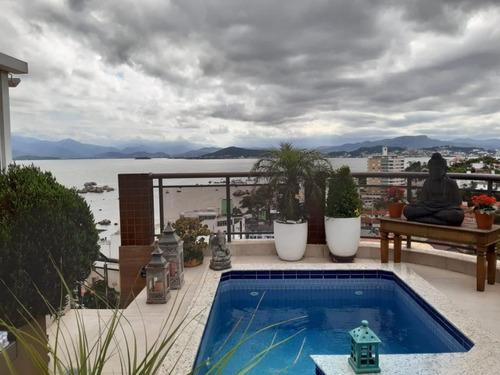 Cobertura Com 3 Dormitórios À Venda, 219 M² Por R$ 1.790.000,00 - Coqueiros - Florianópolis/sc - Co0258