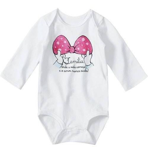 Body Lilica Ripilica Baby Manga Longa Branco