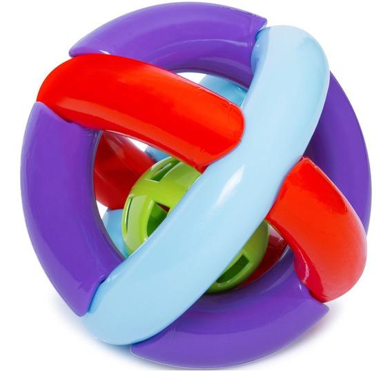Brinquedo Bebê Bola Maluquinha Com Chocalho Macia E Leve