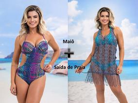Kit Maiô Engana Mamãe Com Bojo + Saída De Praia