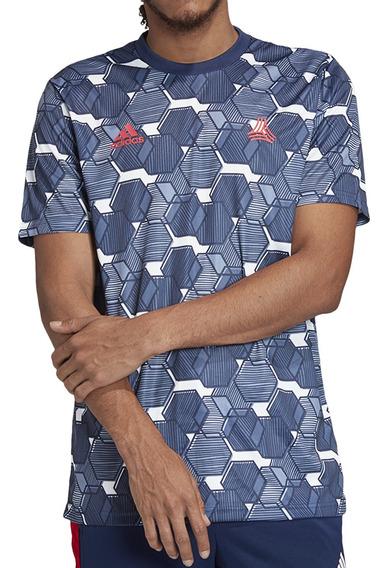 Remera adidas Futbol Tan Hombre Az/bl